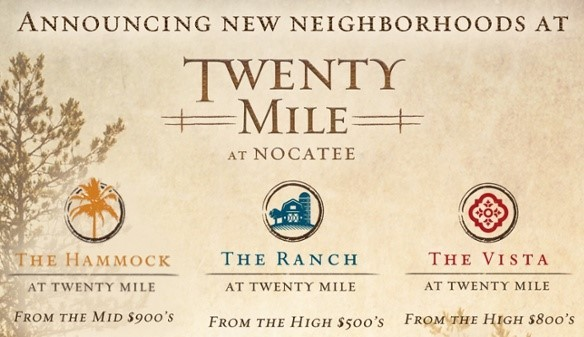 Nocatee announced three brand new neighborhoods in Twenty Mile